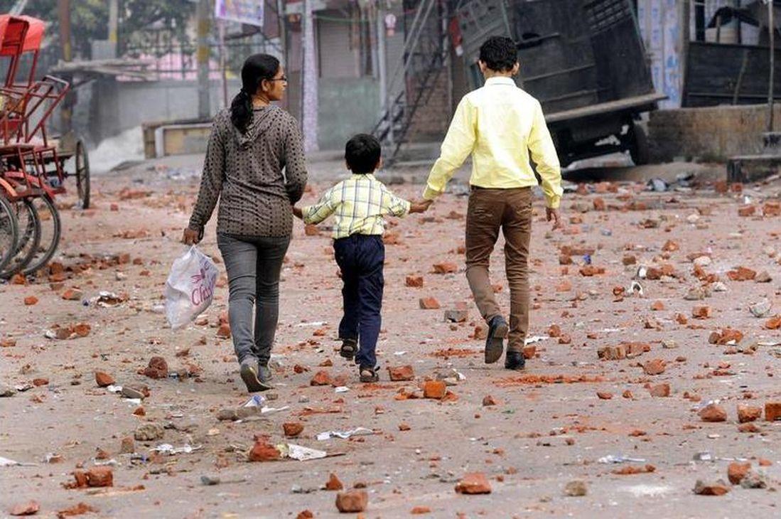 trail of the Communal riots at Trilok Puri