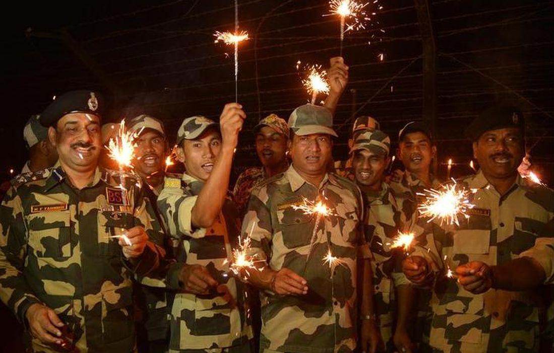 BSF personnel celebrate Diwali