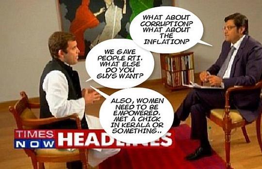 Arnab with Rahul Gandhi