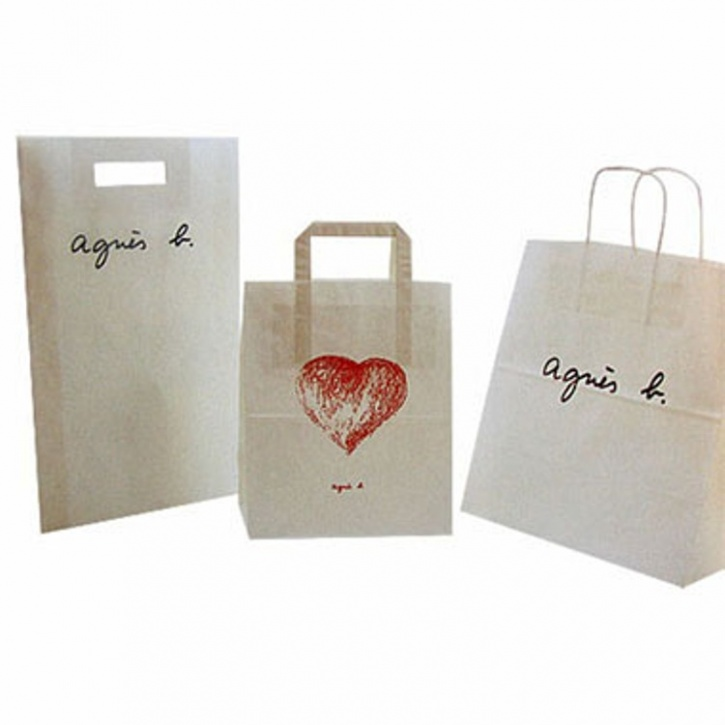 agnes b organic paper bag