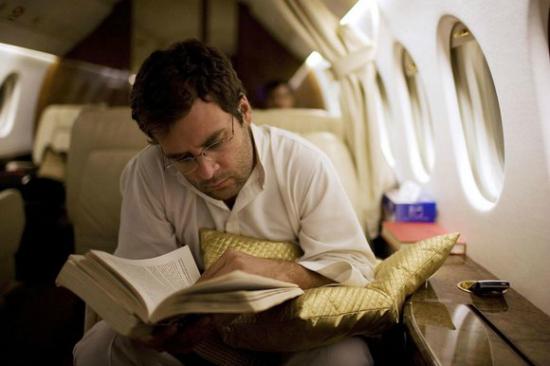 Rahul Gandhi studying