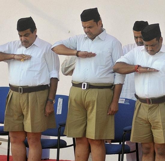 Maharashtra cm rss worker fadnavis