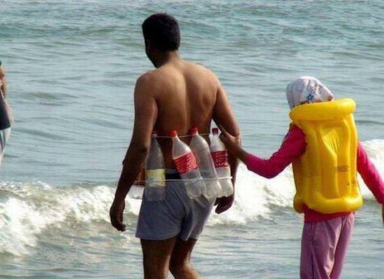 Indian man at beach funny