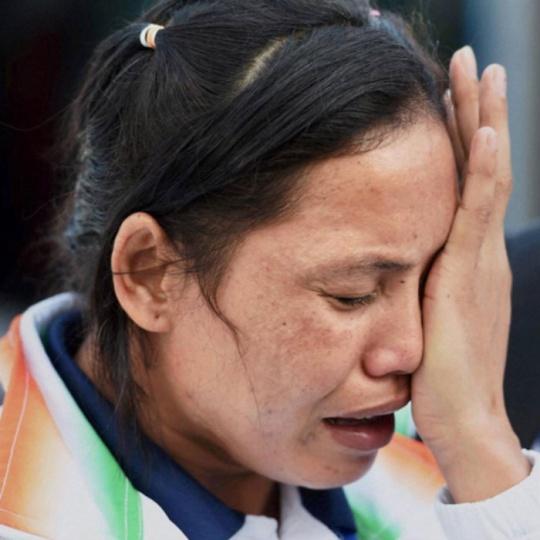 Sarita Devi Crying