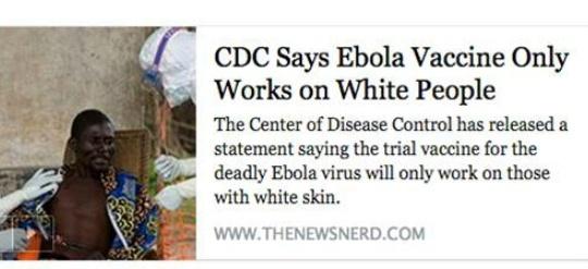 Vaccine ebola racist