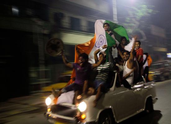 India patriotic car