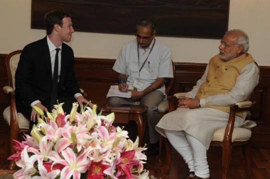 Zuckerberg Modi