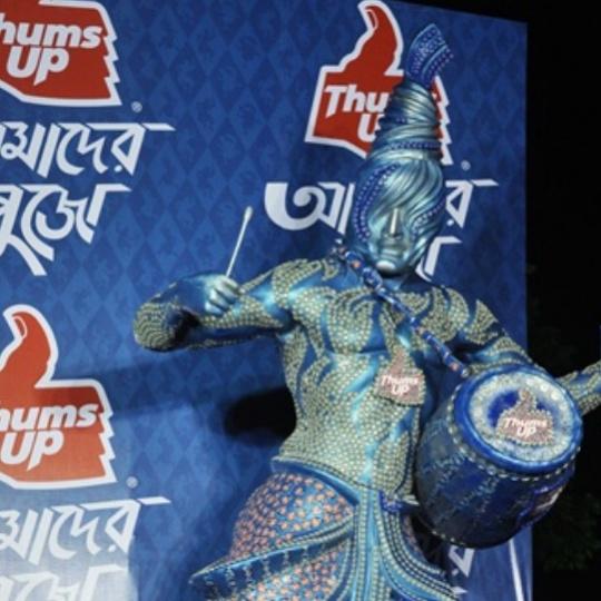 Thums Up at Durga Puja