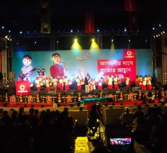 Vodafone at Durga Puja