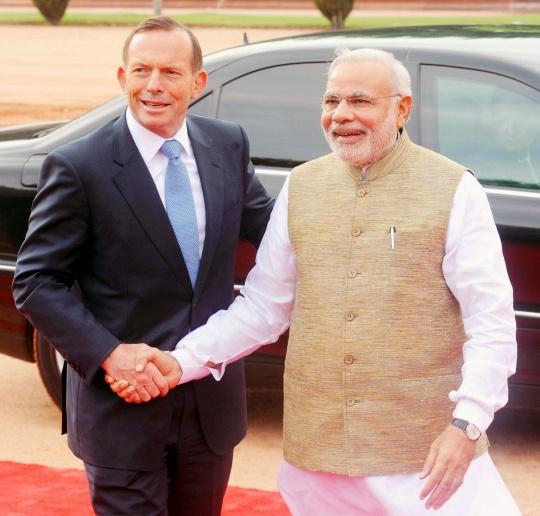 Australian Prime Minister Tony Abbott, Prime Minister Narendra Modi