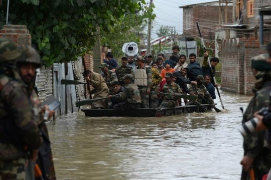 Massive Rescue Operations On in Flood-Hit Areas of J&K