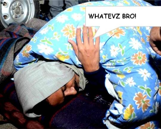 Kejriwal sleeping