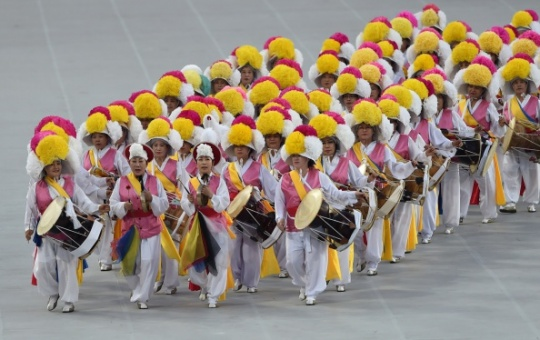 Drummers at Asian Games 2014