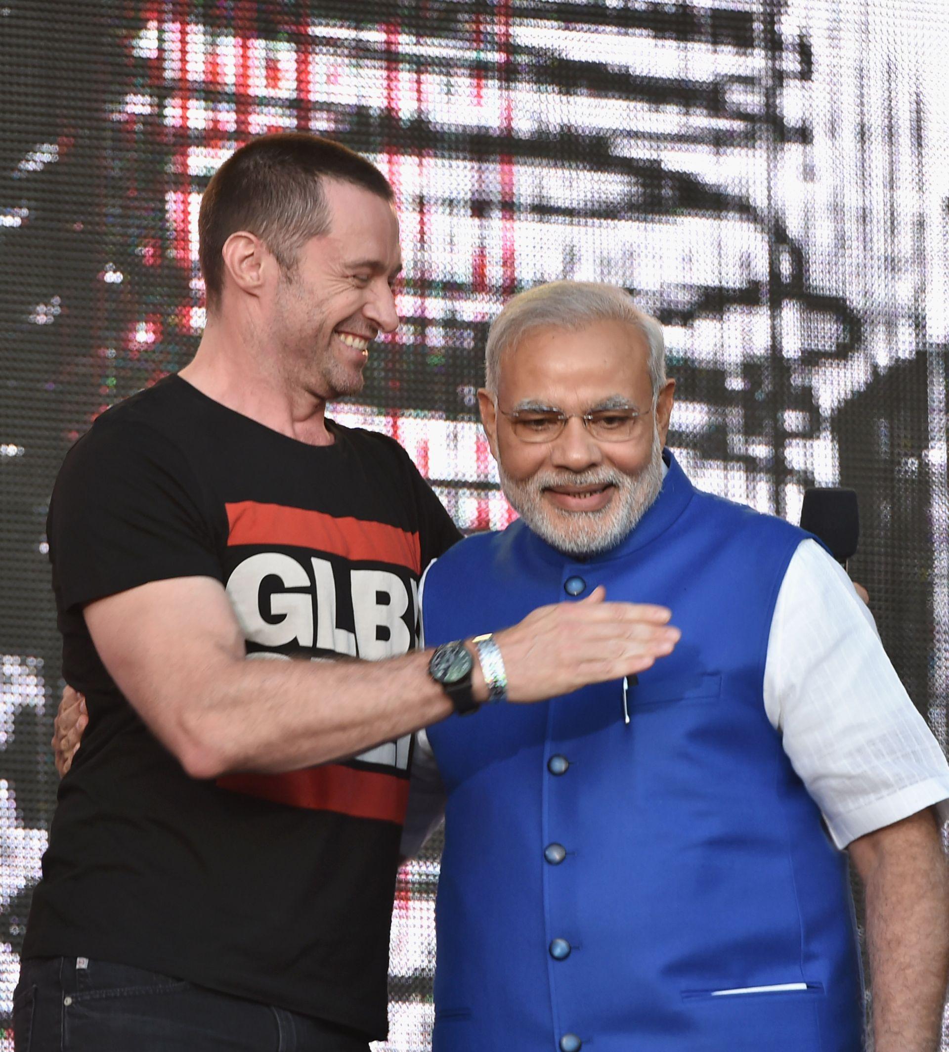 Narendra Modi, Hugh Jackman