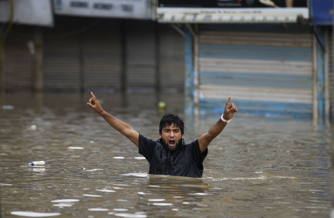 Kashmir Flood Victim