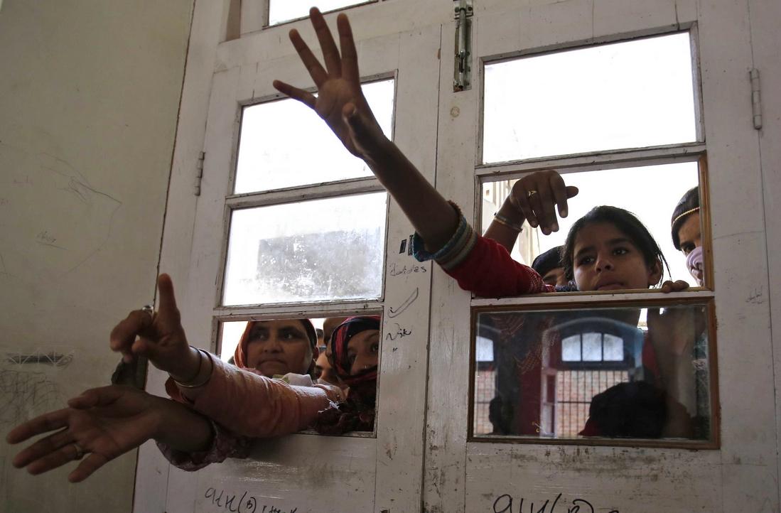 Kashmir flood victims