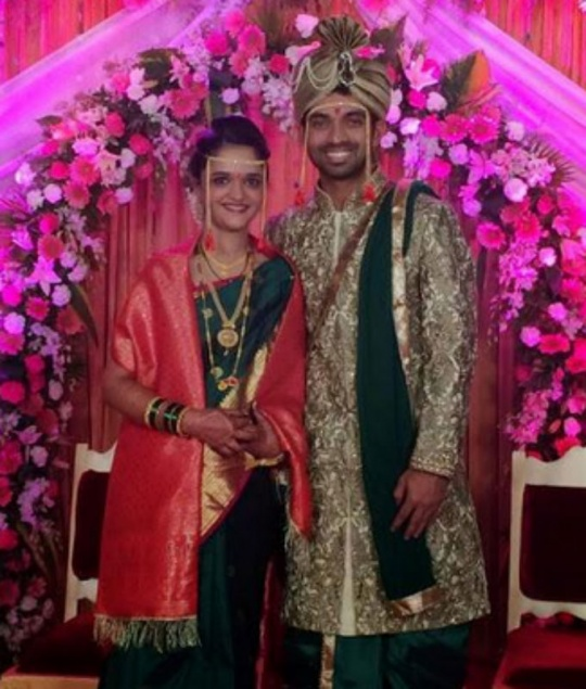 Indian cricketer Ajinkya Rahane began his new innings today. The middle-order batsman tied the knot with Radhika this morning in Mumbai. The couple live in the same area and it is an arranged marriage.