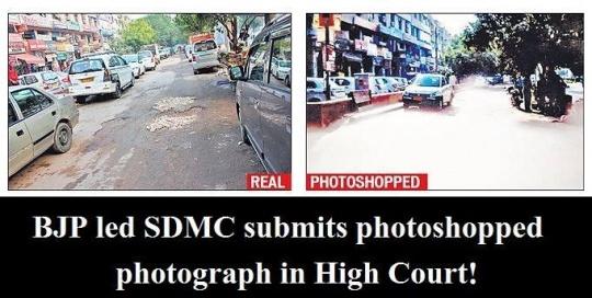 Tech-novice Delhi HC bench not impressed with South Delhi effort to photoshop potholed streets