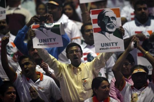 Modi supporters at Madison Square Garden