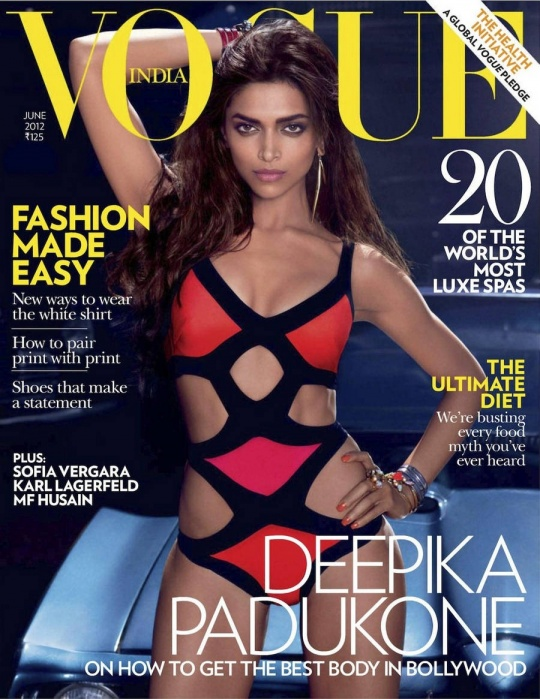 Deepika Padukone on the cover of Vogue India