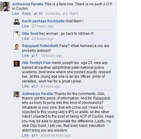 Merin Joseph FB Viral Post