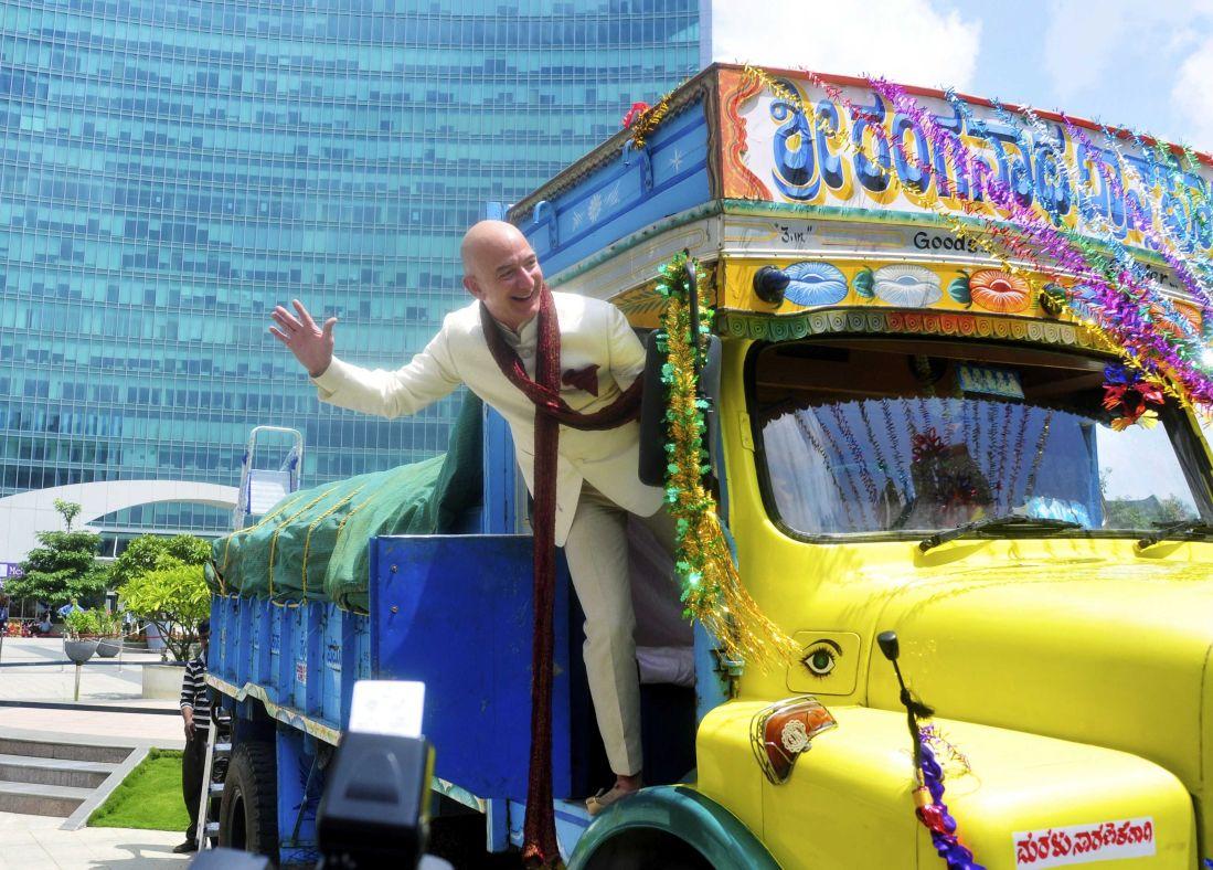 Jeff Bezos in Bangalore