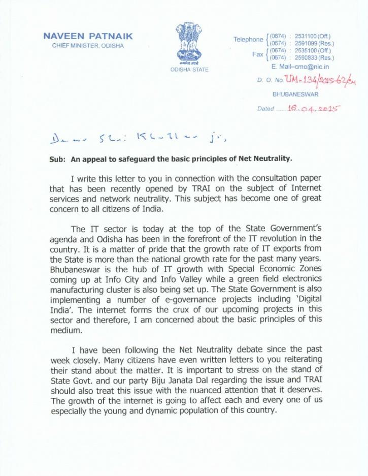 net neutrality letter