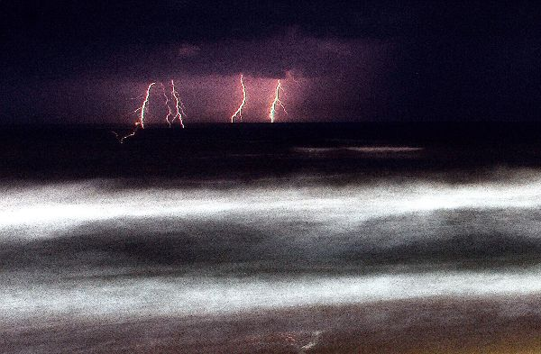 Lightning at Marina beach