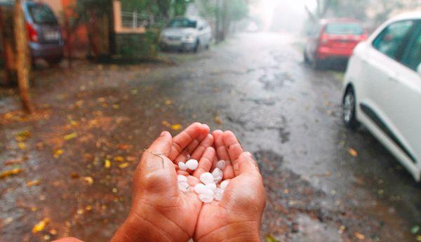 Hailstorm india