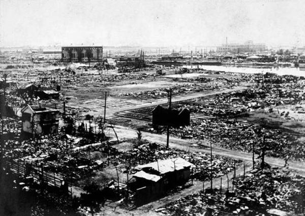 Yokohama destroyed in 1923 Tookyo earthquake