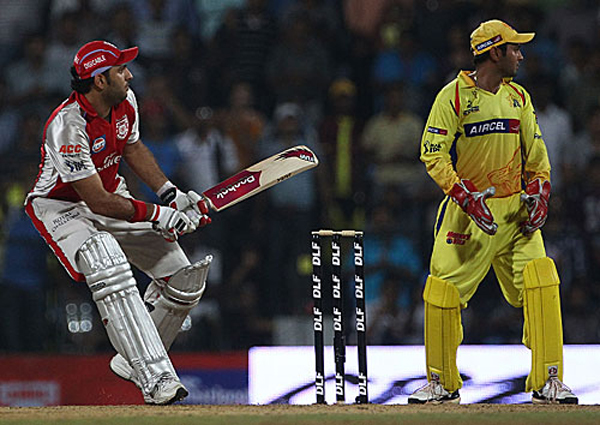 Yuvraj with a reverse sweep