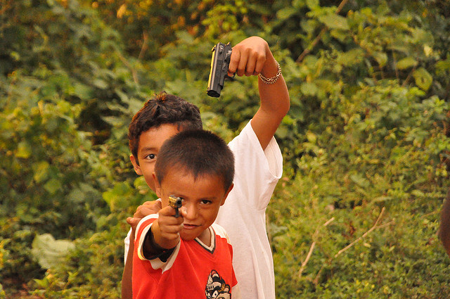 Two indian kids playing
