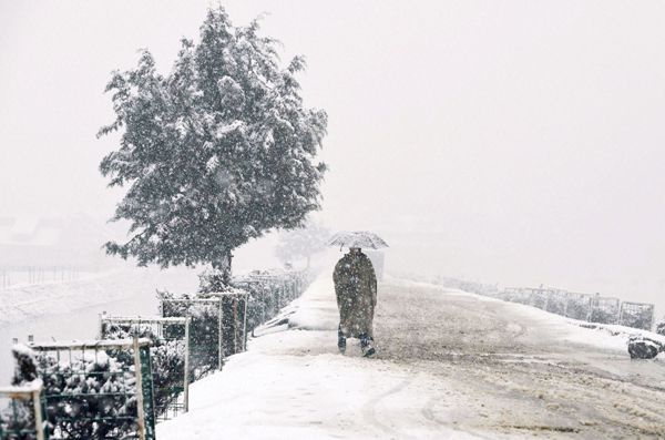 Snow in India