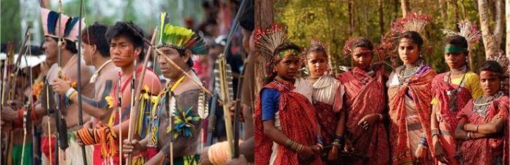 tribes brazil and india