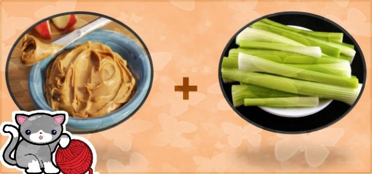 peanut butter celery