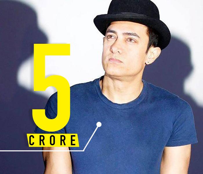 Aamir Khan 5 crores per day