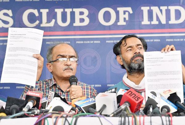 Prashant Bhushan Yogendra Yadav