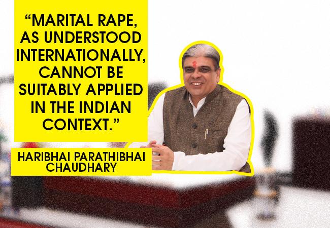 haribhai chaudhary marital rape