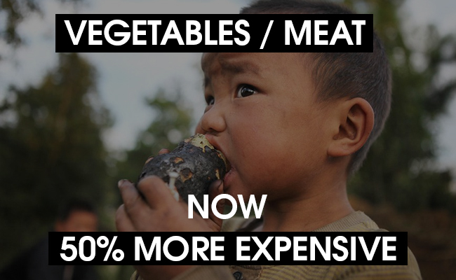 food prices in Nepal have skyrocketed