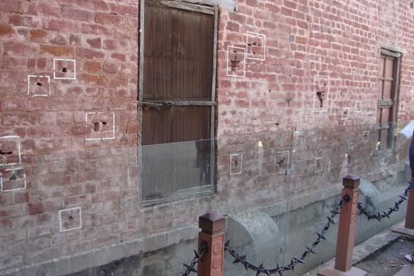 bullet marks at jallianwala bagh