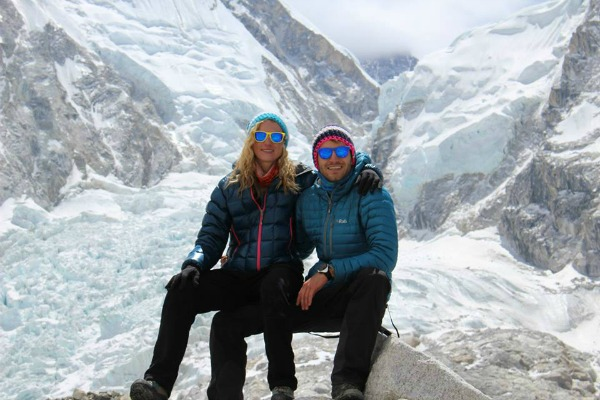 rhe couple at everest
