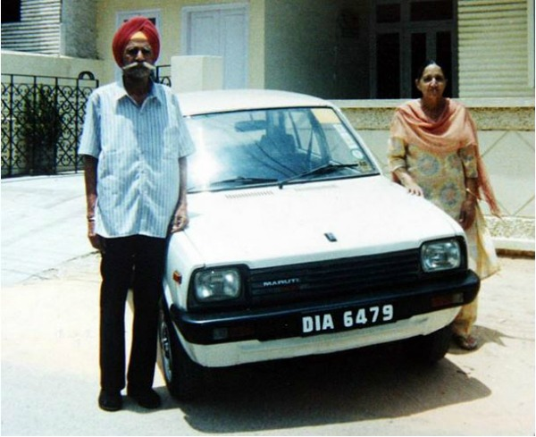 couple with first maruti