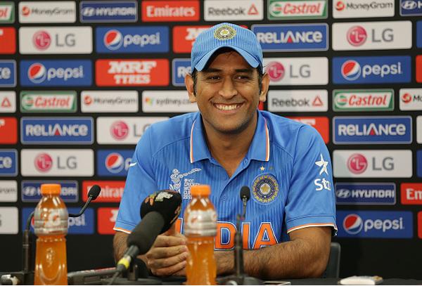 Dhoni at press conference