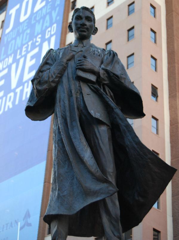 Gandhi's statue in Gandhi Square