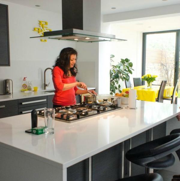 Indian in kitchen
