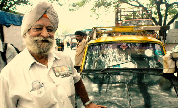 Indian sikh soldier taxi driver