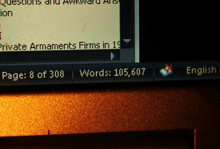 phd thesis word count