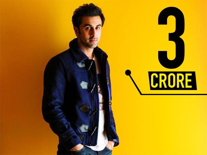 Ranbir Kapoor 3 Crore per day