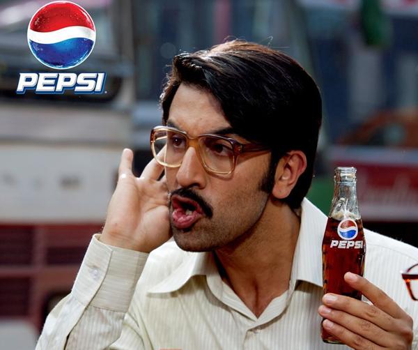 Ranbir Kapoor doing an ad campaign for IPL sponsors