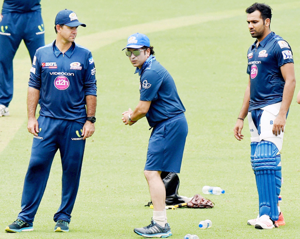 Sachin with Ponting and Rohit